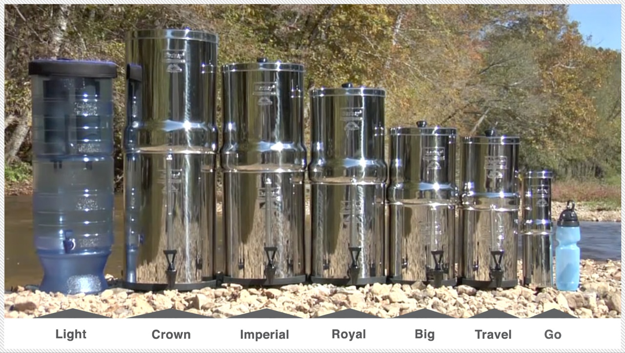 berkey-sizes