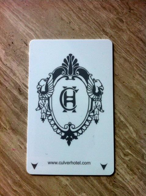 Culver hotel card